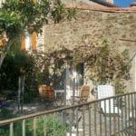 Terrasse privative de Dama Jana, avec sa rampe d'accès